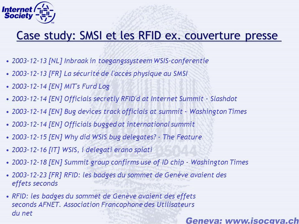 Case study: SMSI et les RFID ex. couverture presse Case study: SMSI et les RFID ex.