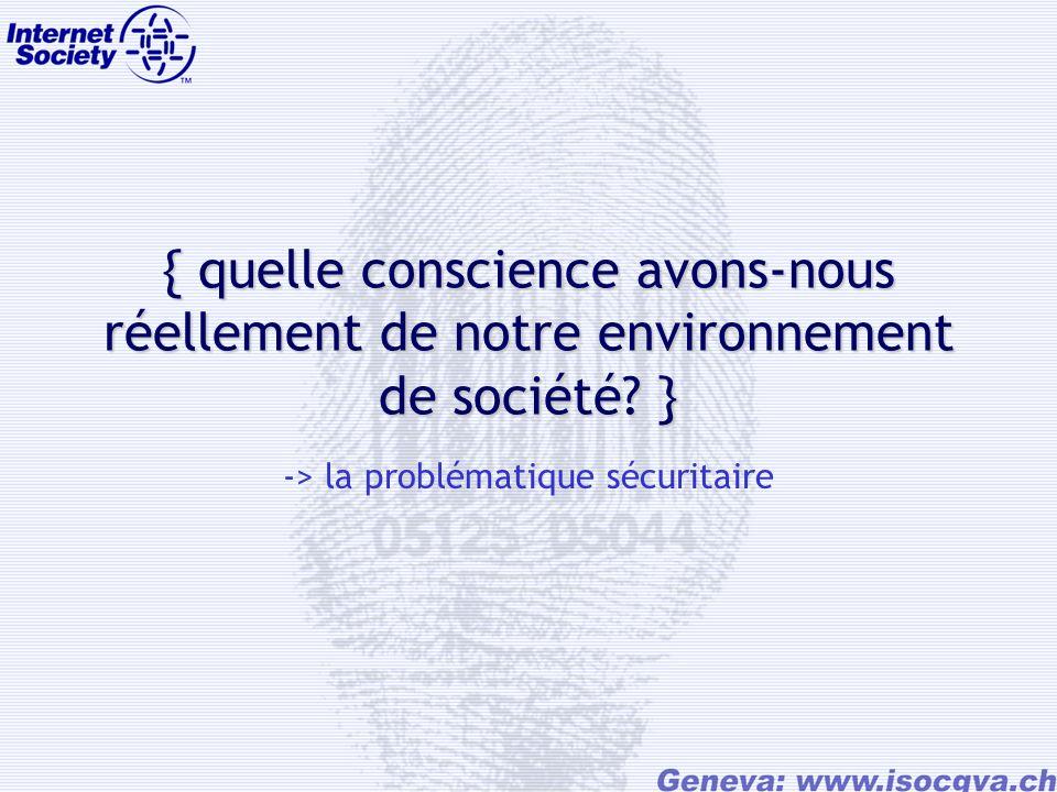 { quelle conscience avons-nous réellement de notre environnement de société.