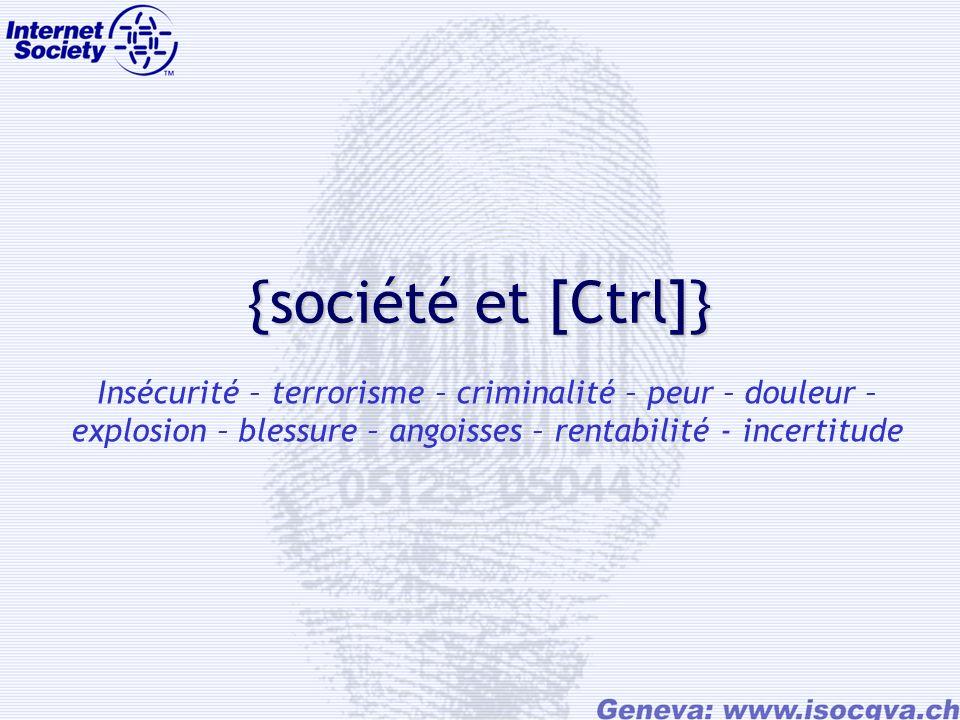 {société et [Ctrl]} Insécurité – terrorisme – criminalité – peur – douleur – explosion – blessure – angoisses – rentabilité - incertitude