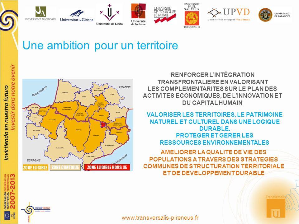 www.transversalis-pireneus.fr Une ambition pour un territoire AMELIORER LA QUALITE DE VIE DES POPULATIONS A TRAVERS DES STRATEGIES COMMUNES DE STRUCTU