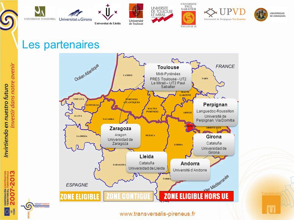 Les partenaires Toulouse Midi-Pyrénées PRES Toulouse - UT2 Le Mirail – UT3 Paul Sabatier Perpignan Languedoc-Roussillon Université de Perpignan Via Do