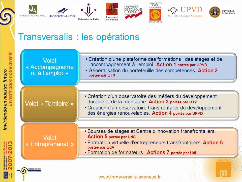 Création dune plateforme des formations, des stages et de laccompagnement à lemploi. Action 1 portée par UPVD Généralisation du portefeuille des compé