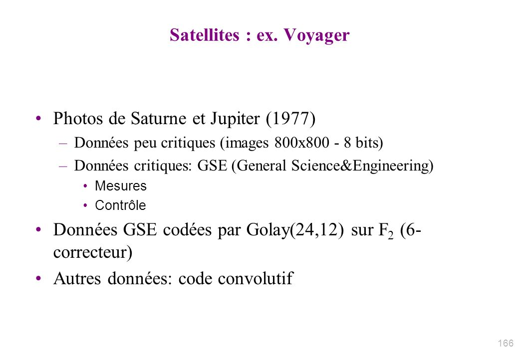 Satellites : ex.
