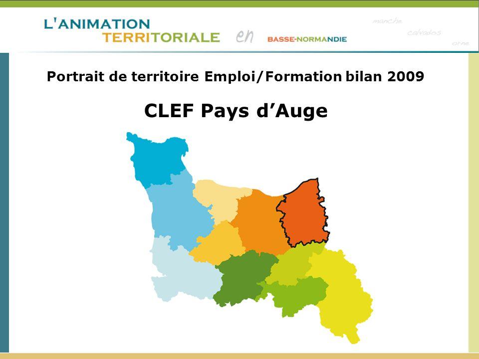 Portrait de territoire Emploi/Formation bilan 2009 CLEF Pays dAuge