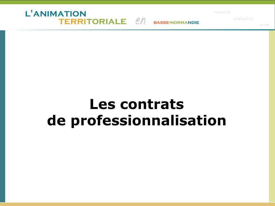 Les contrats de professionnalisation