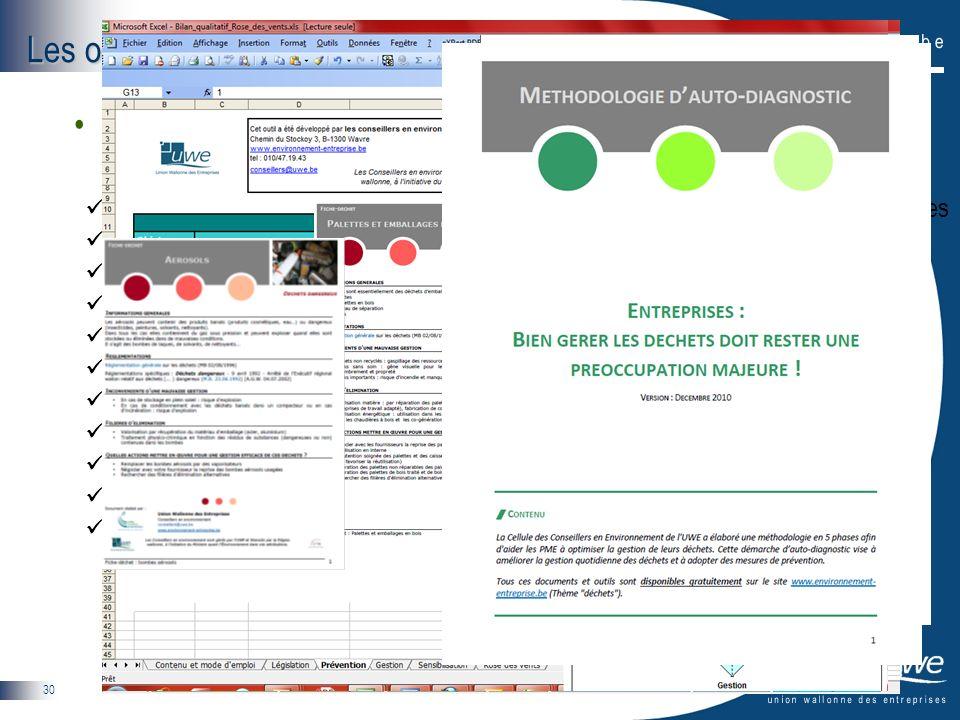 30 Les outils daide de la CCE La boîte à outils (déchets) Accord de coopération concernant la prévention et la gestion des déchets d'emballages Regist