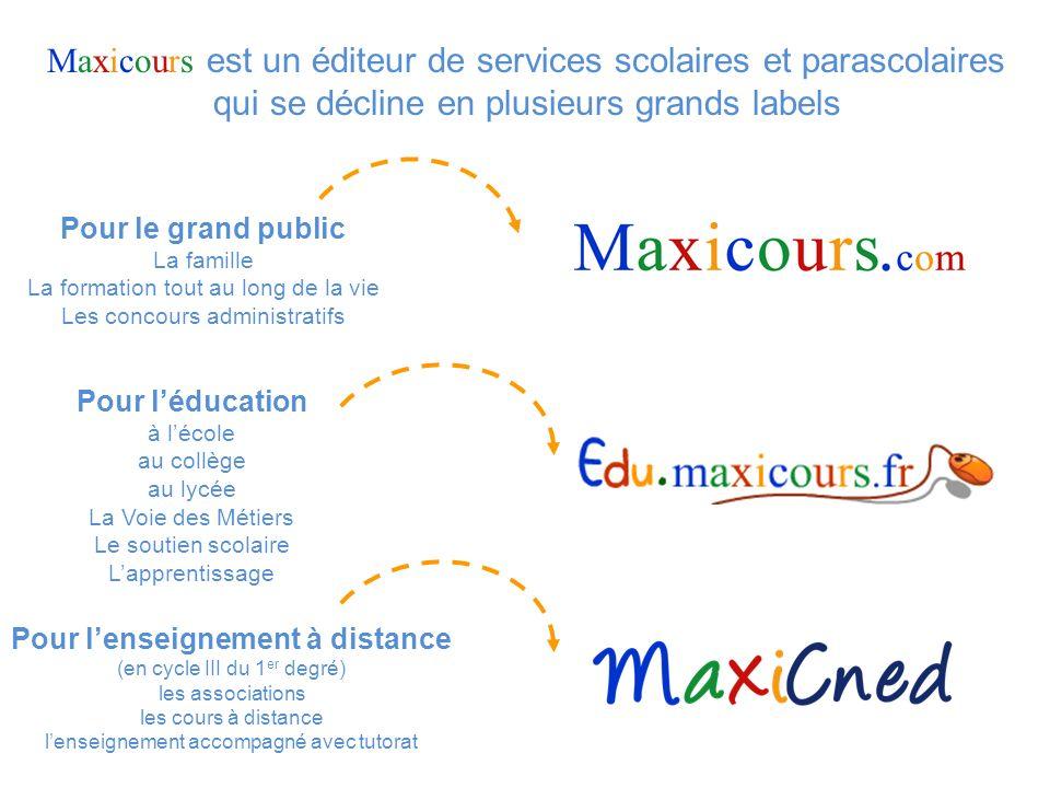 15 Edu.maxicours.fr est également un outil puissant daccompagnement du professeur dans la mise en œuvre dévaluations.