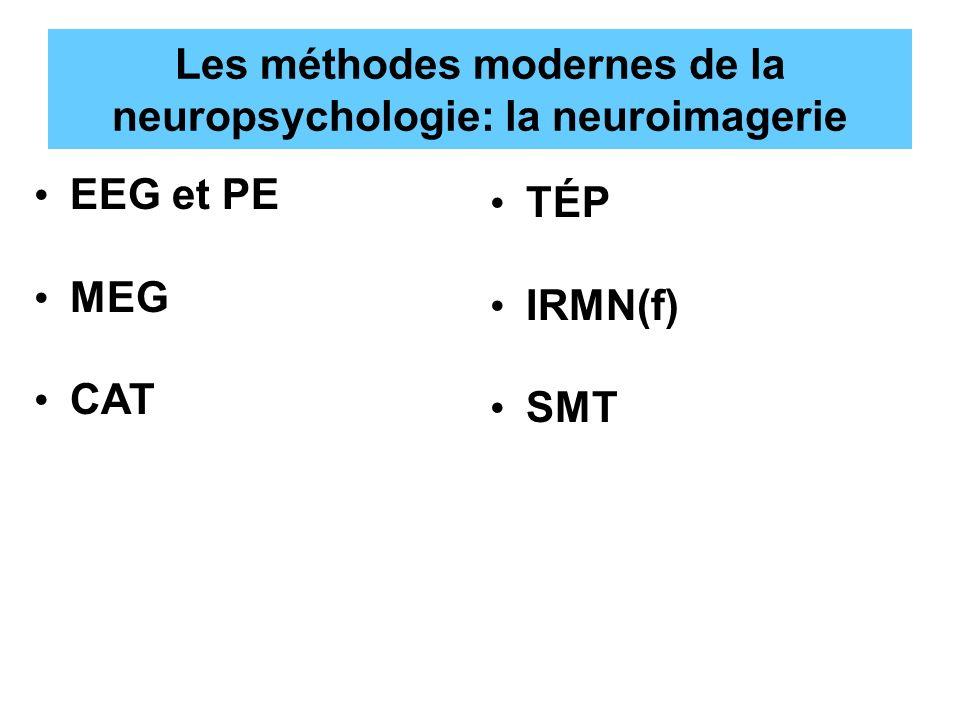 Les méthodes modernes de la neuropsychologie: la neuroimagerie EEG et PE MEG CAT TÉP IRMN(f) SMT