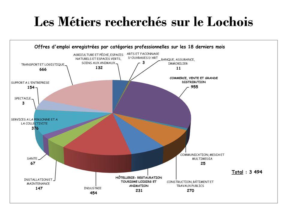 Les Métiers recherchés sur le Lochois