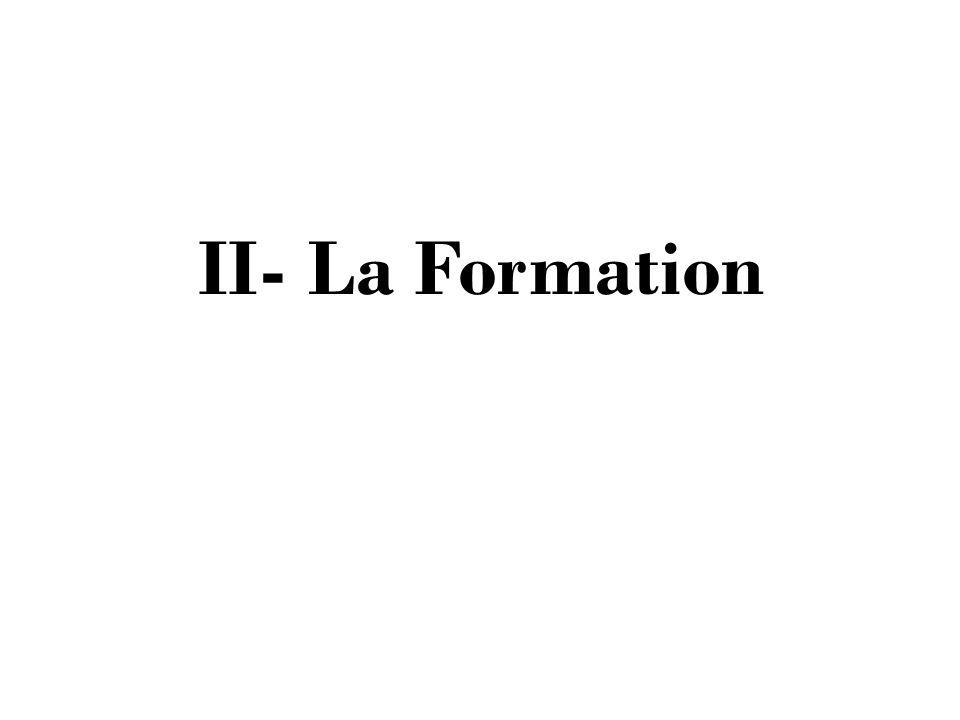 II- La Formation