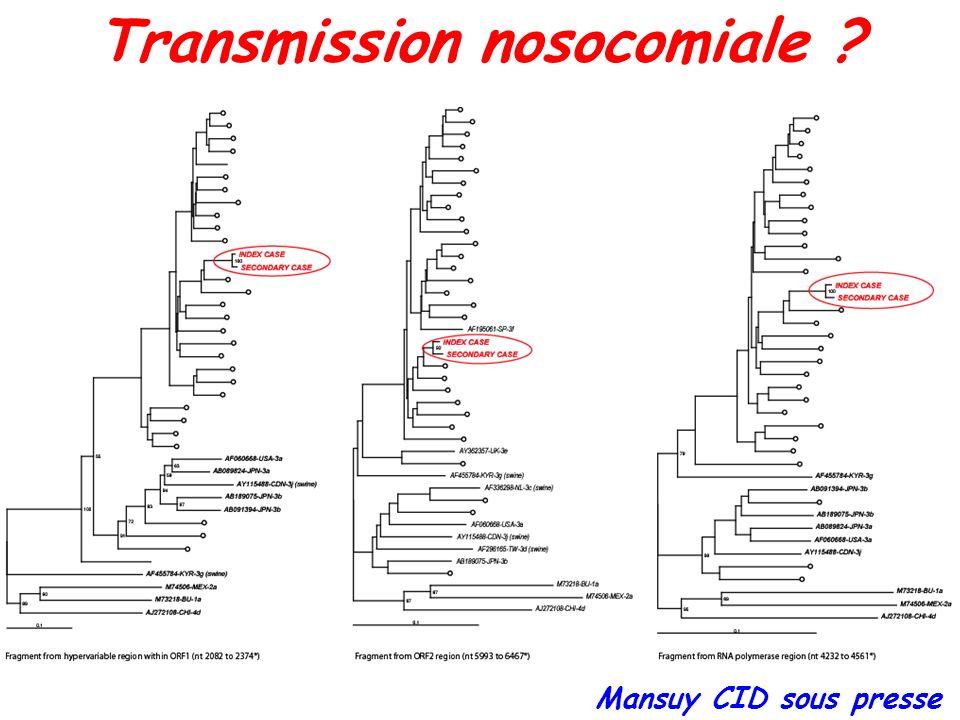 Transmission nosocomiale ? Mansuy CID sous presse