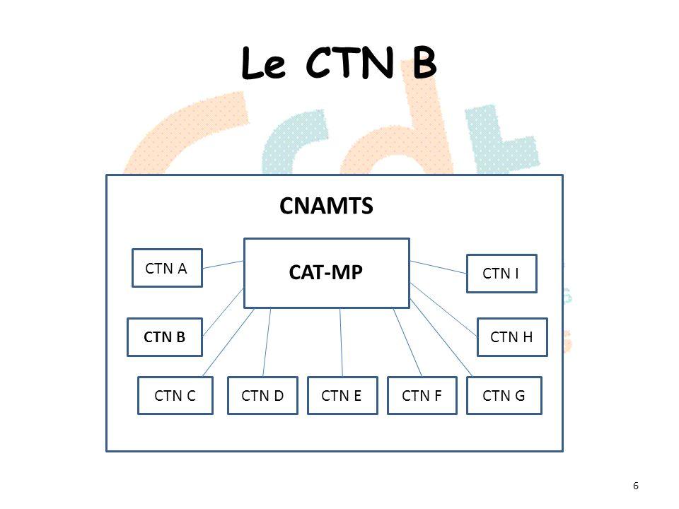 Le CTN B Composition du CTN B: 4 représentants par organisation syndicale (2 titulaires + 2 suppléants).