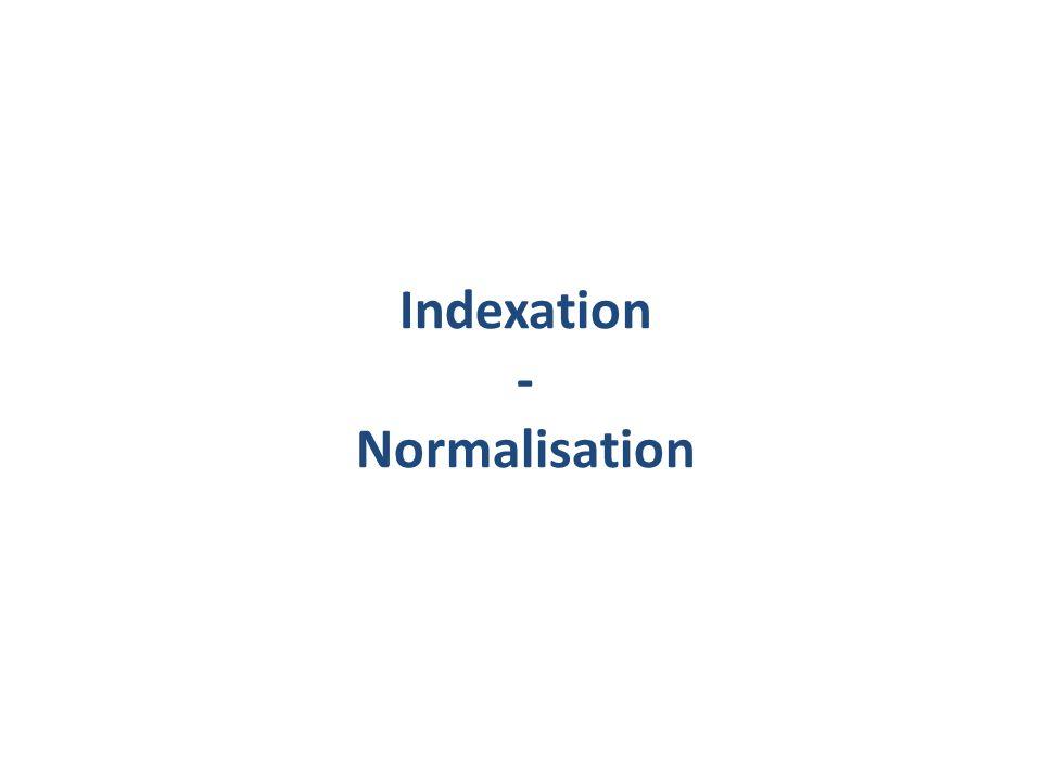 Indexation - Normalisation