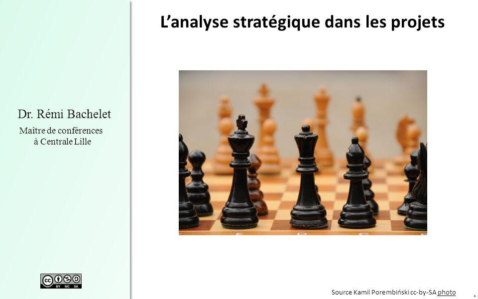 1 Dr. Rémi Bachelet Maître de conférences à Centrale Lille Lanalyse stratégique dans les projets Source Kamil Porembiński cc-by-SA photophoto