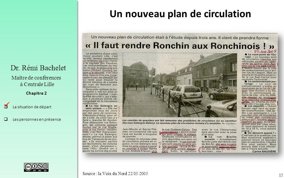 15 Chapitre 2 Dr. Rémi Bachelet Maître de conférences à Centrale Lille La situation de départ Les personnes en présence Source : la Voix du Nord 22/05