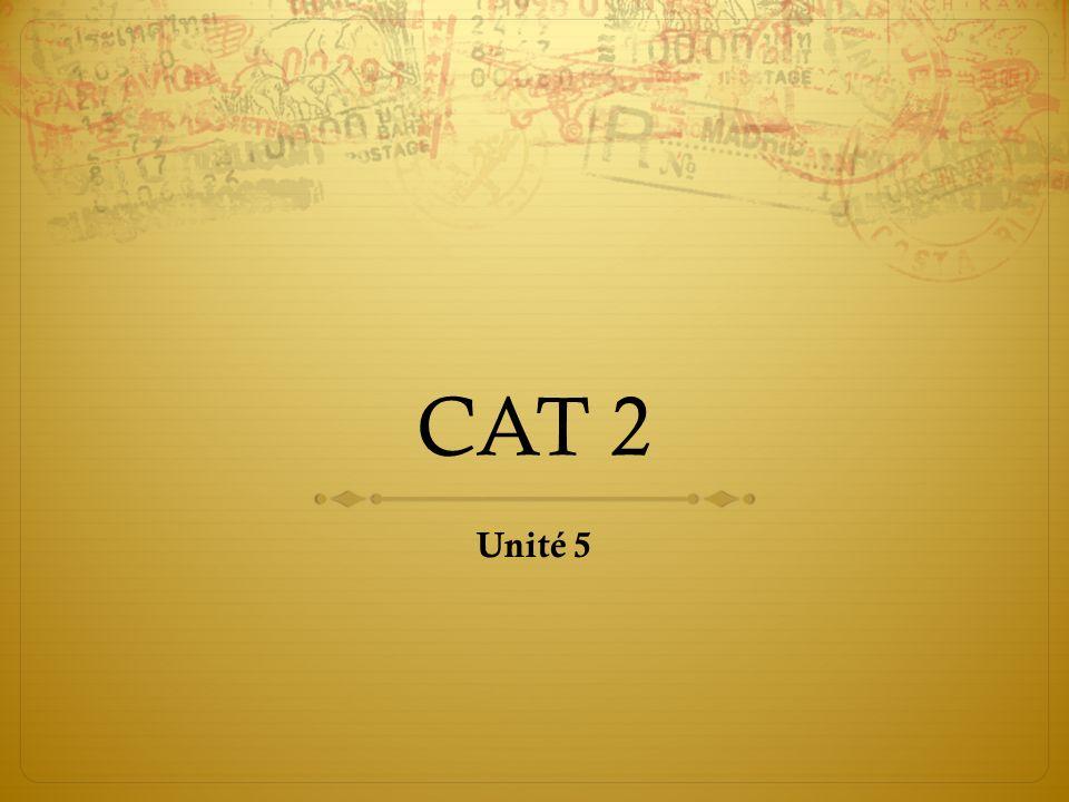 CAT 2 Unité 5