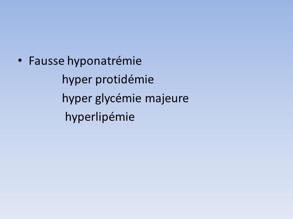 Définition natrémie < 135 meq/l entre 125 – 135: asymptomatique < 125 : symptomatique : chutes troubles neurolog convulsion et coma