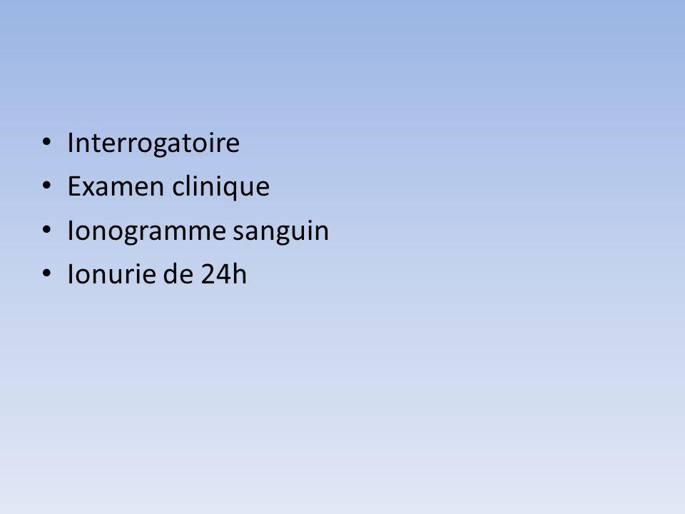 Evaluer la ration alimentaire Osmoles/24 heures 2 (Na+ + K+ ) + UREE ( en mmol) exemple: ionurie/24h Na+ 100 K+ 90 UREE 228 mmol total 2X [100+90]+ 228 = 608 mosm/24h La ration quotidienne alimentaire occidentale : 500 à 800 mosm/j