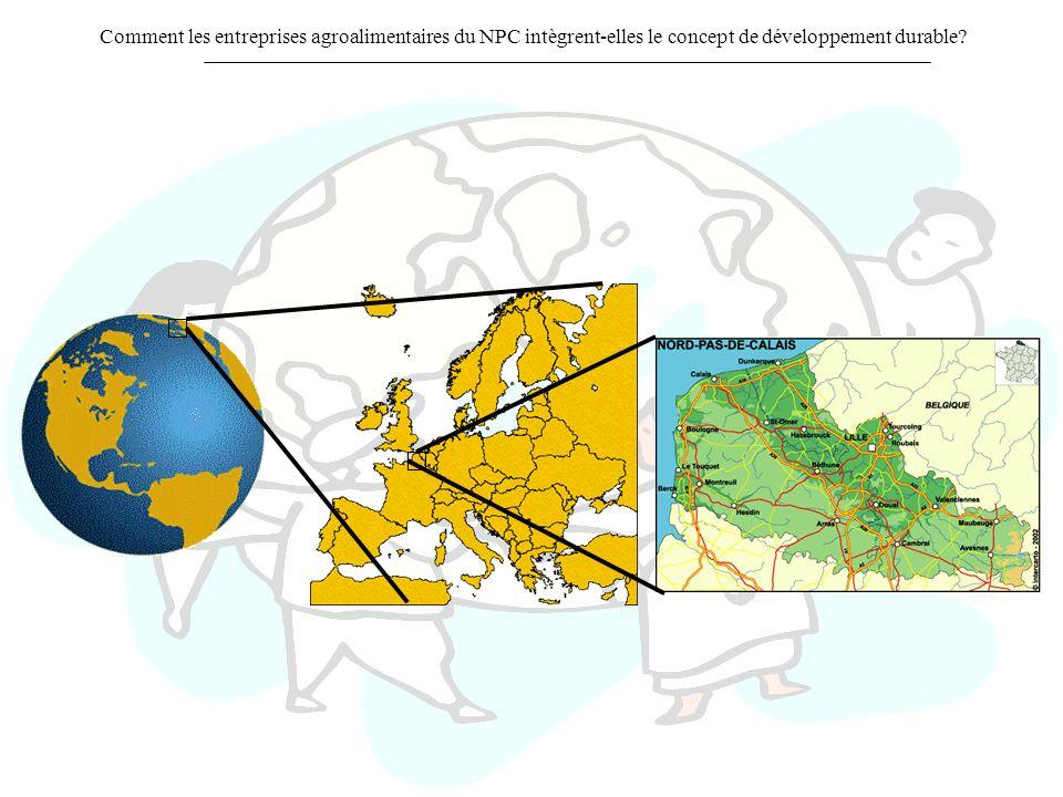 Comment les entreprises agroalimentaires du NPC intègrent-elles le concept de développement durable?