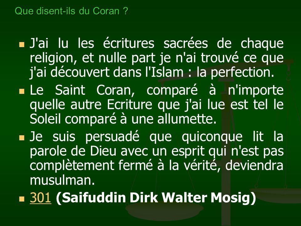 Tout était si logique. C'est la beauté du Coran ; il vous demande de réfléchir et de raisonner. Lorsque je suis allé plus loin dans la lecture du Cora