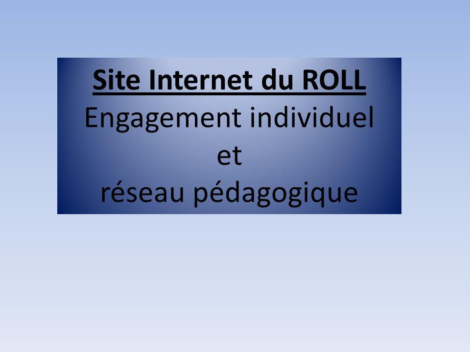 Site Internet du ROLL Engagement individuel et réseau pédagogique