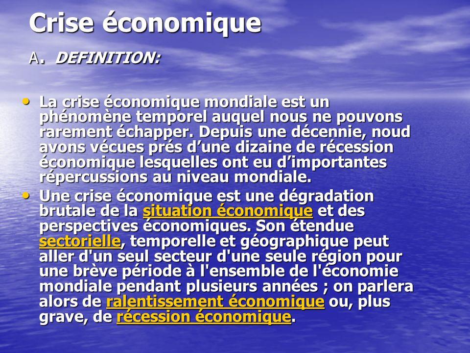 Crise économique A.