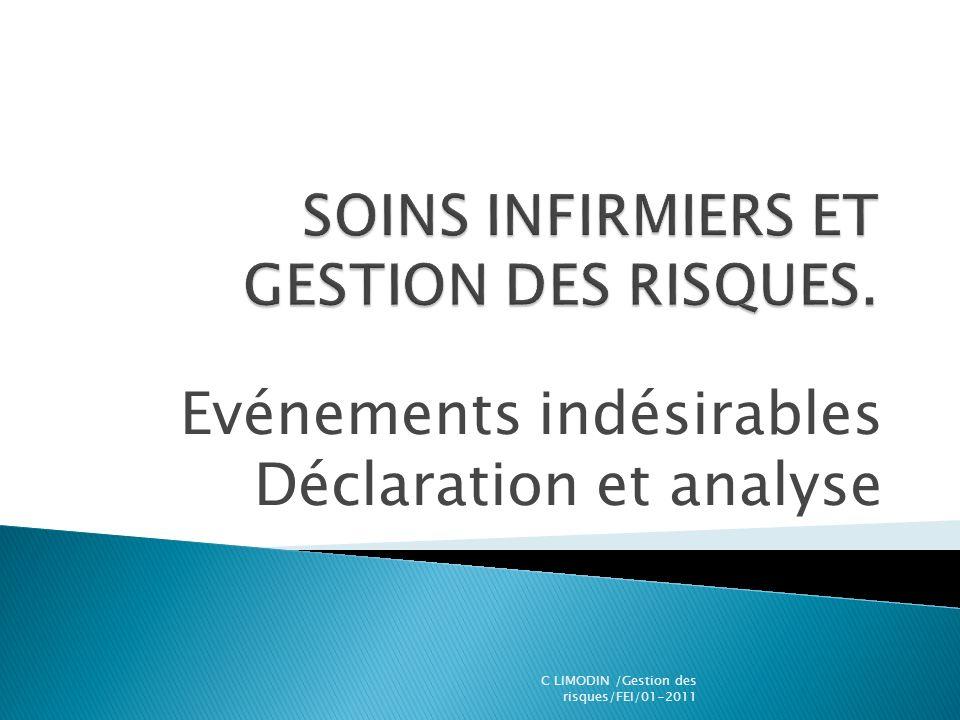 Evénements indésirables Déclaration et analyse C LIMODIN /Gestion des risques/FEI/01-2011