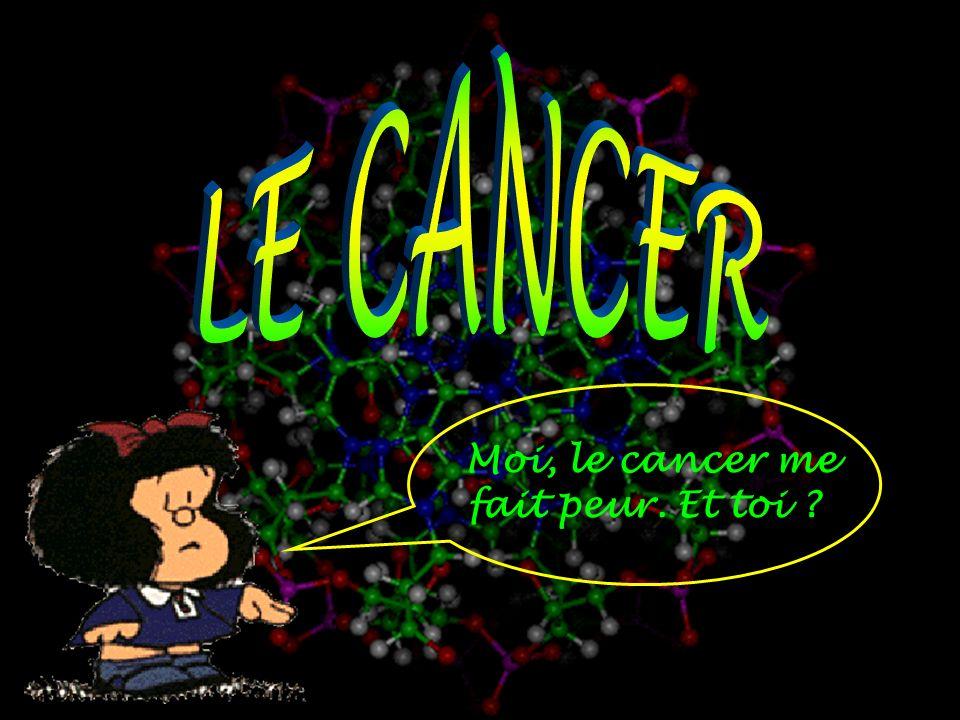 Moi, le cancer me fait peur. Et toi ?