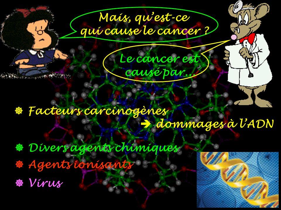 Mais, quest-ce qui cause le cancer .Le cancer est causé par...