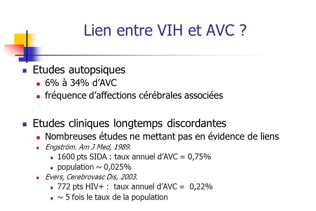 Lien entre VIH et AVC .
