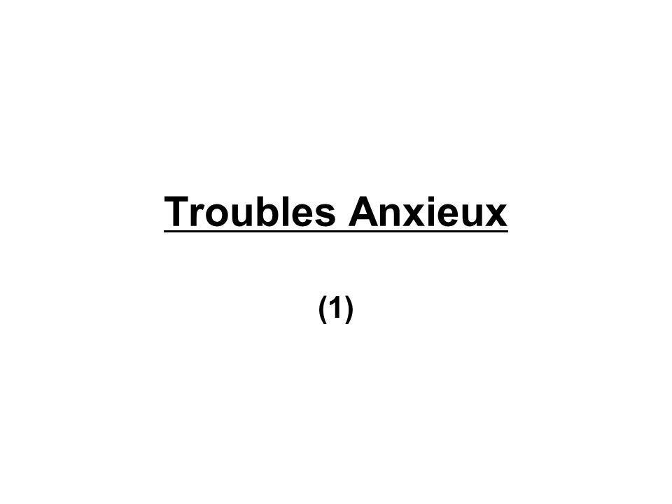 Le symptôme de l anxiété (2) Composante corporelle Les signes physiques diffèrent selon les sujets l accélération des battements de cœur resserrement de la cage thoracique fourmillements dans les mains