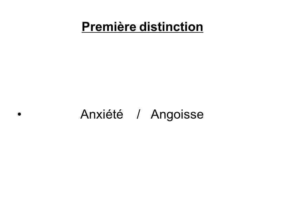 Deuxième distinction Angoisse / Symptôme
