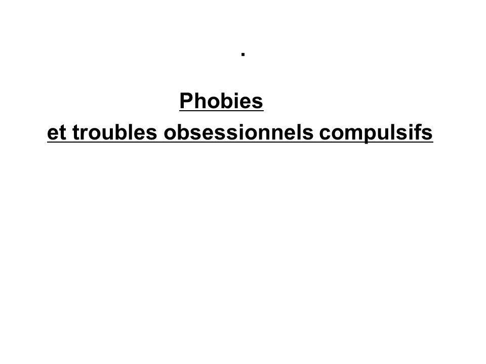 . Phobies et troubles obsessionnels compulsifs