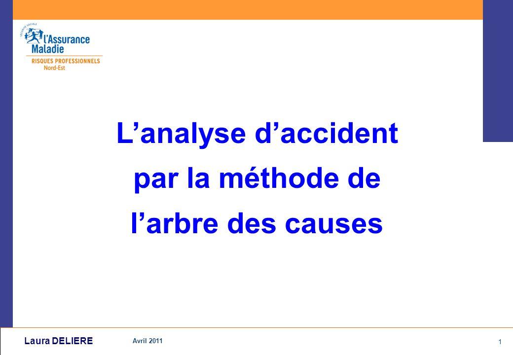 Avril 2011 1 Laura DELIERE Lanalyse daccident par la méthode de larbre des causes