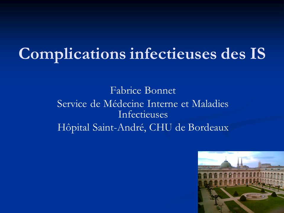 Pourquoi sintéresser aux infections .