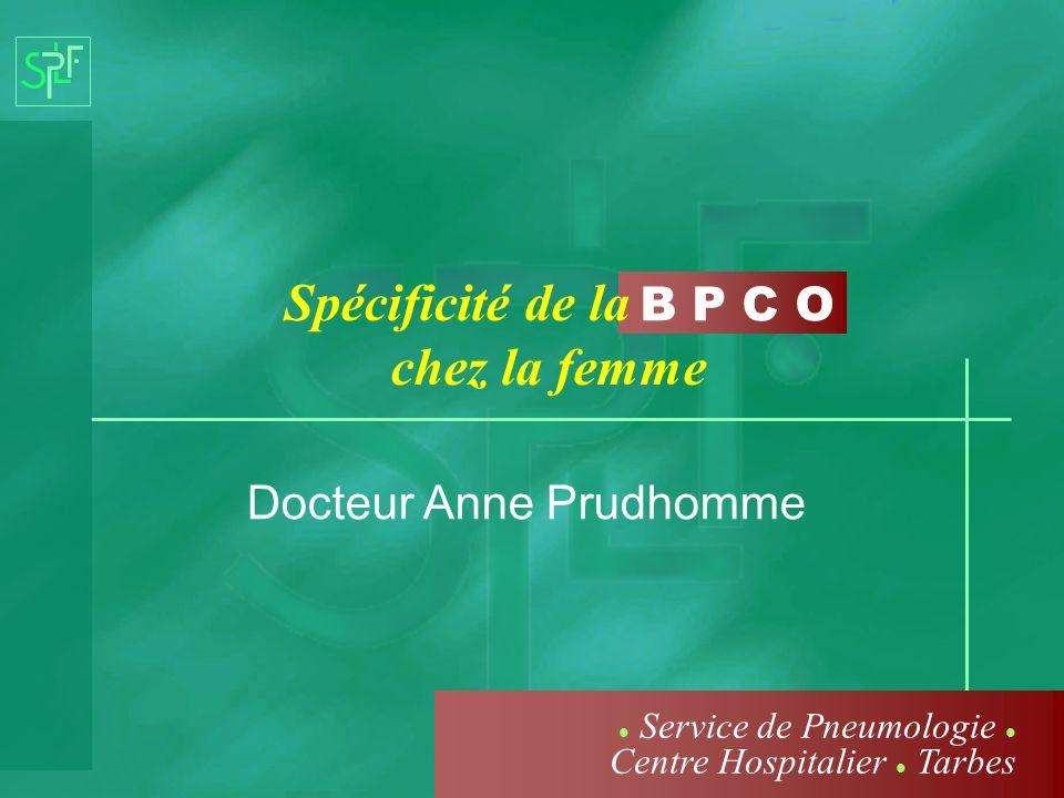 Spécificité de la chez la femme Docteur Anne Prudhomme Service de Pneumologie Centre Hospitalier Tarbes
