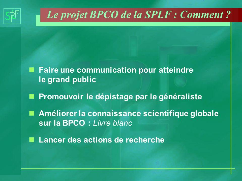 nFaire une communication pour atteindre le grand public nPromouvoir le dépistage par le généraliste nAméliorer la connaissance scientifique globale su