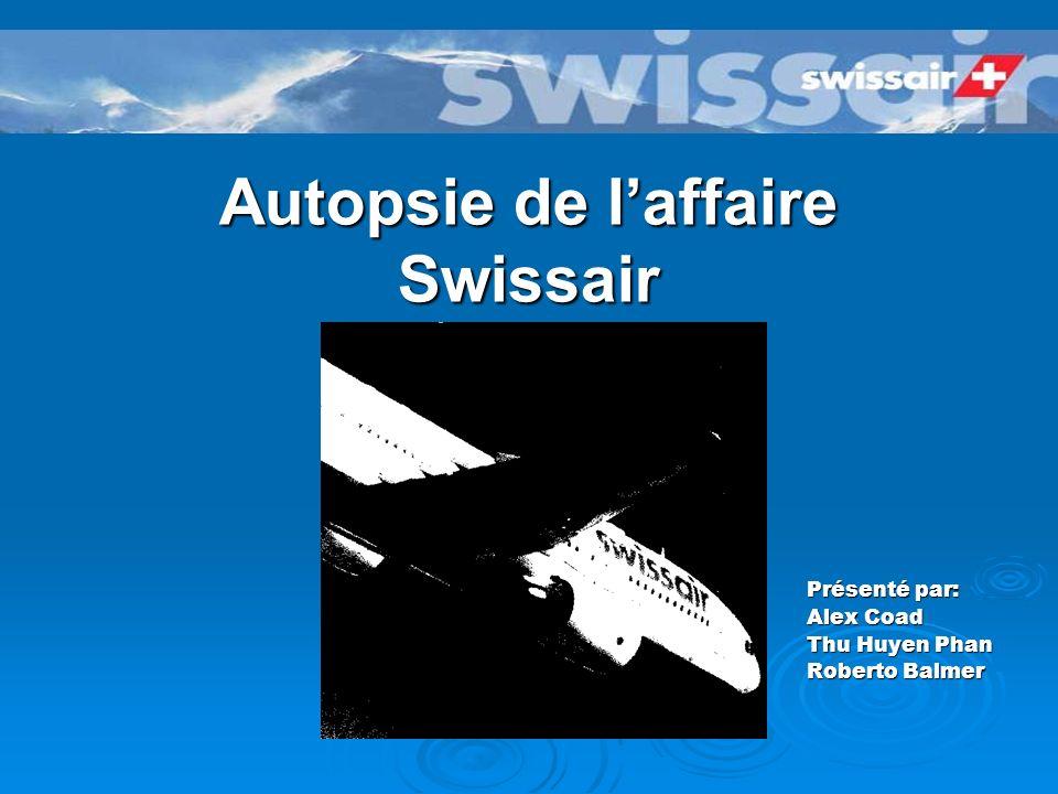 Autopsie de laffaire Swissair Présenté par: Alex Coad Thu Huyen Phan Roberto Balmer