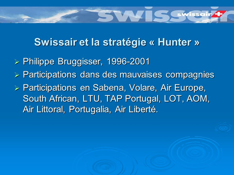 Swissair et ses alliances Global Excellence Global Excellence European Quality Alliance European Quality Alliance Alcazar Alcazar
