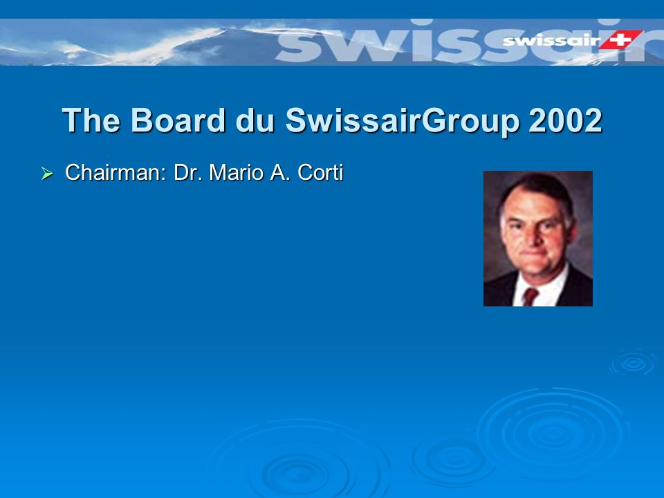 La structure de SwissairGroup 2002 Dans ladministration de « Nachlassstundung » «business as usual »