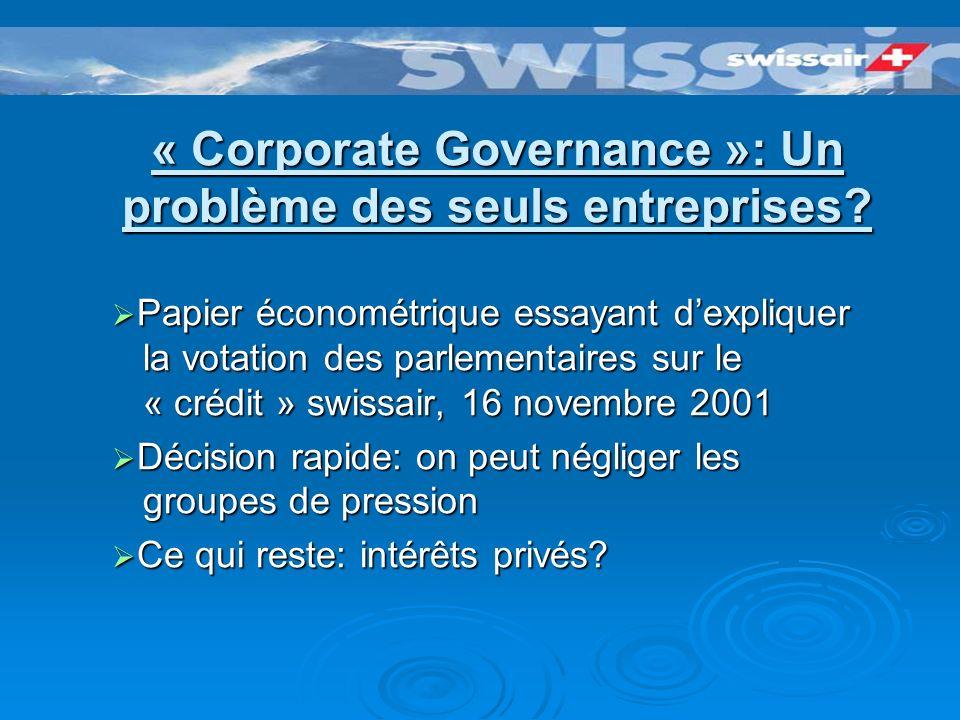 La SairGroup se détruisait lentement de lintérieur ...So oder so ist nicht abzustreiten, dass der Untergang der einst so stolzen Swissair nicht ein Akt des Schicksals ist, sondern die Konsequenz einer praktisch von A bis Z verfehlten Unternehmensstrategie.