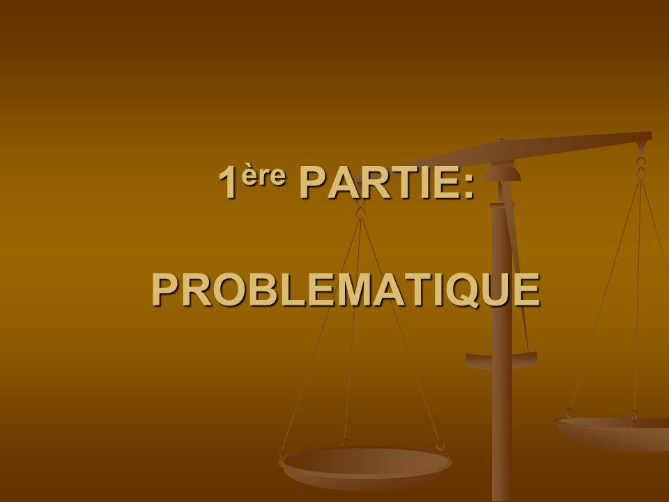 1 ère PARTIE: PROBLEMATIQUE