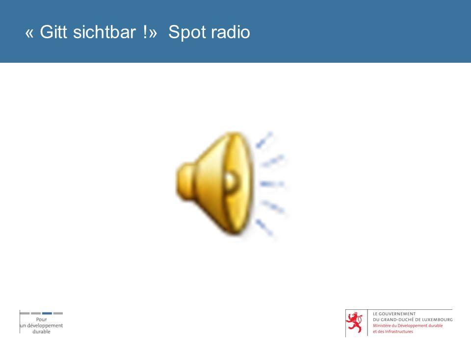 « Gitt sichtbar !» Spot radio