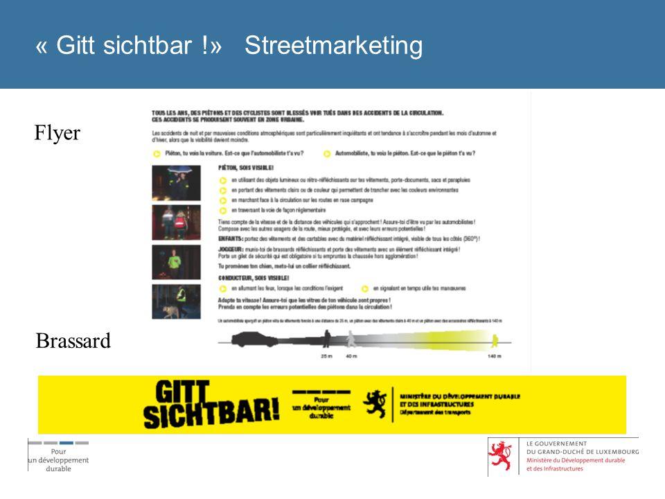 « Gitt sichtbar !» Streetmarketing Flyer Brassard
