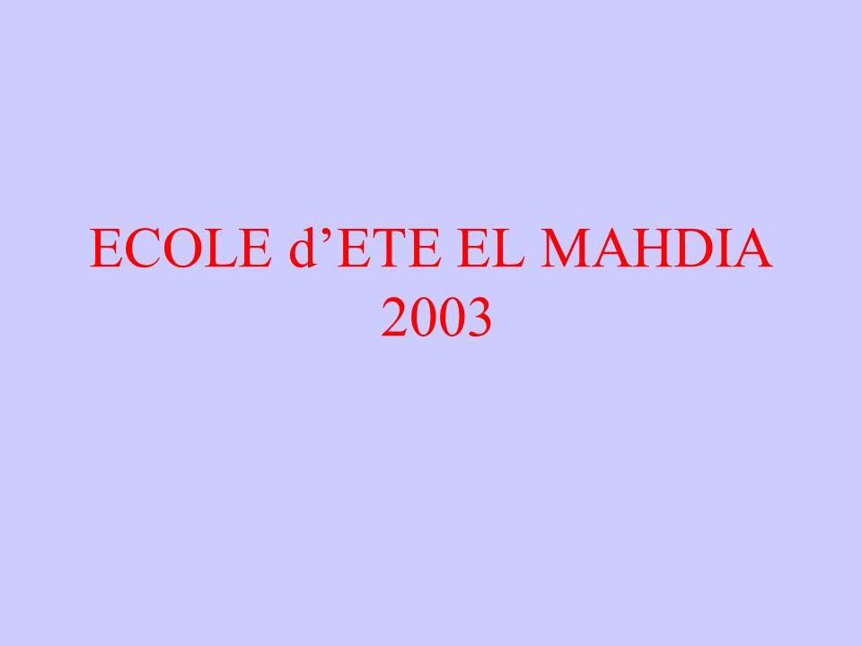 ECOLE dETE EL MAHDIA 2003