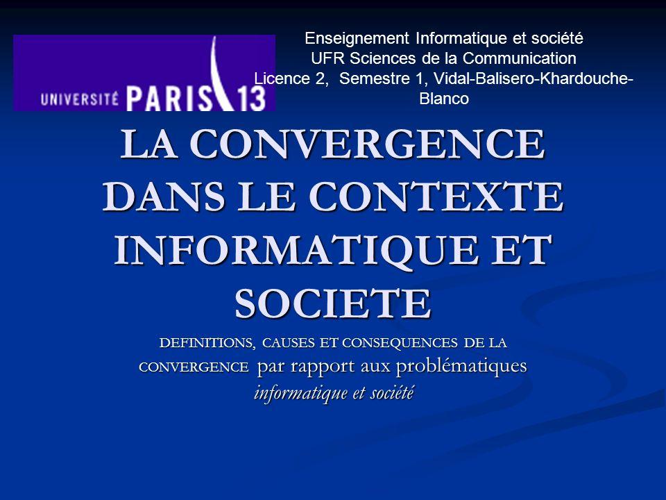 Plan du cours Introduction Introduction 1.la convergence, cest quoi … 1.