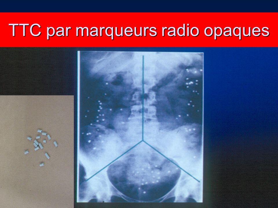 TTC par marqueurs radio opaques