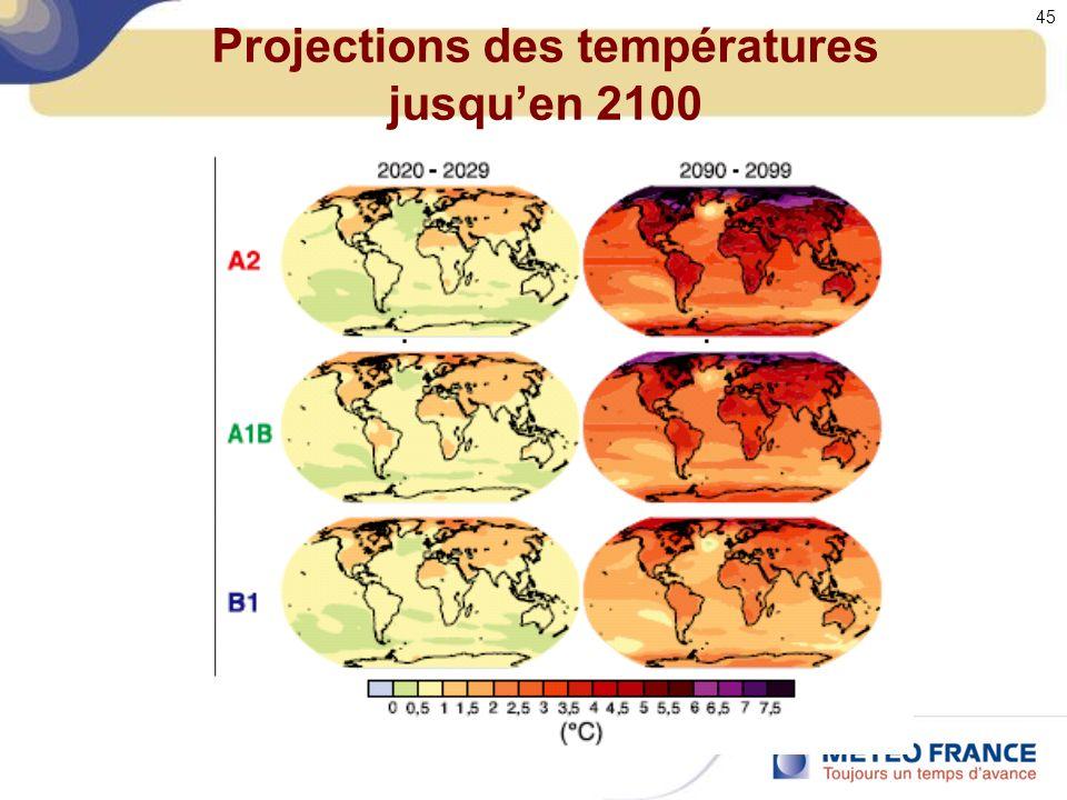 Projections des températures jusquen 2100 45