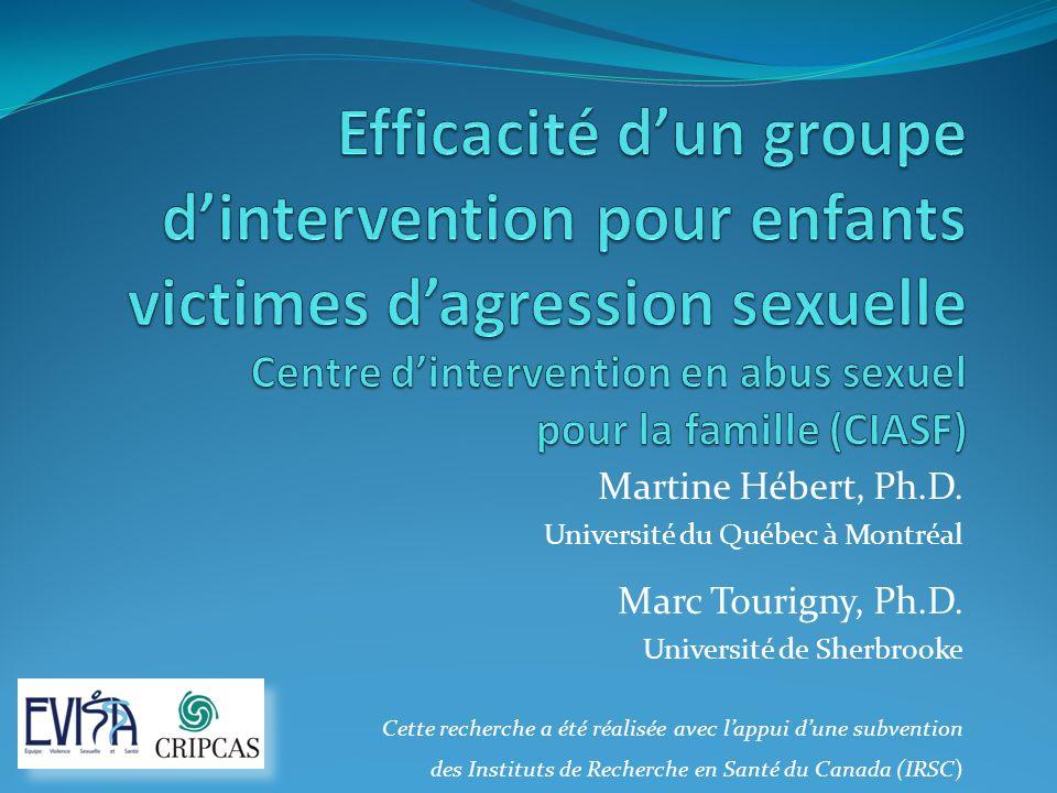 Contexte de létude Une analyse des pratiques en vigueur au Québec en matière dintervention auprès des enfants victimes dagression sexuelle révèle que peu dorganismes offrent des services spécifiques.