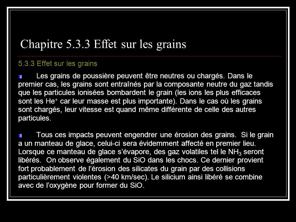 5.3.3 Effet sur les grains Les grains de poussière peuvent être neutres ou chargés.